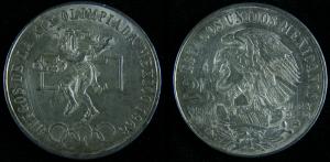 Moneda Nacional Mexicana Conmemortiva Juegos Olimpicos